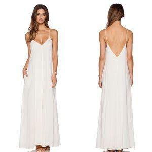 Indah Penda 100% Cotton Maxi Dress in Ivory